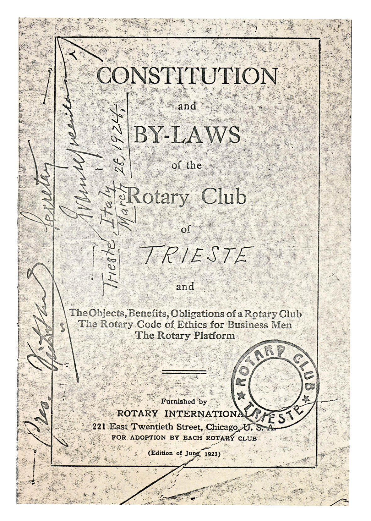 CONSTITUTION Rotary Club Trieste